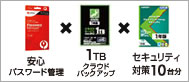 1TB クラウドバックアップ kasperskyセキュリティソフト Win-Mac対応5台分。クレジットカード利用専用